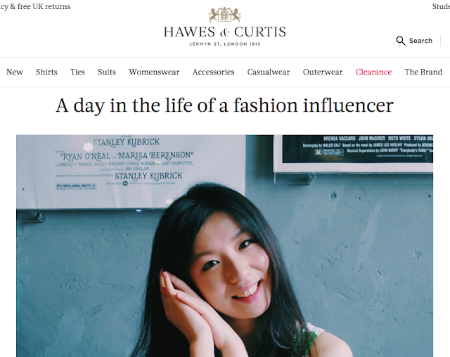 Hawes & Curtis interview, Hawes & Curtis blog, Hawes & Curtis fantail flo, Hawes & Curtis florythefish, Hawes & Curtis linen shirts, Hawes & Curtis fashion blogger, Hawes & Curtis blogger