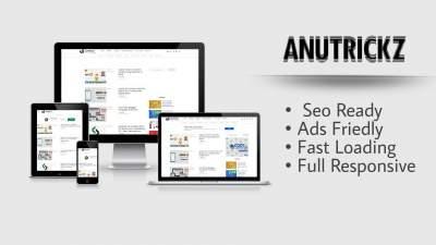 AnuTrickz (Redesign) Blogger Template Premium