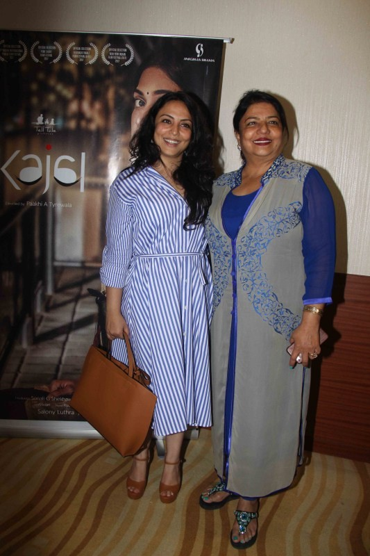 Salony Luthra and Pakhi Tyrewala Spotted at Kajal Short Film Screening