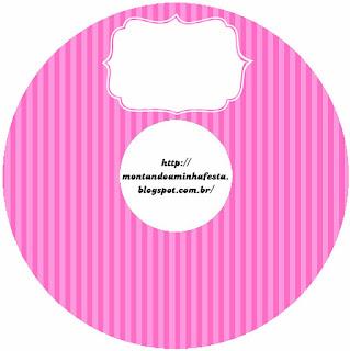 Etiquetas de Rayas Rosa para CD's.