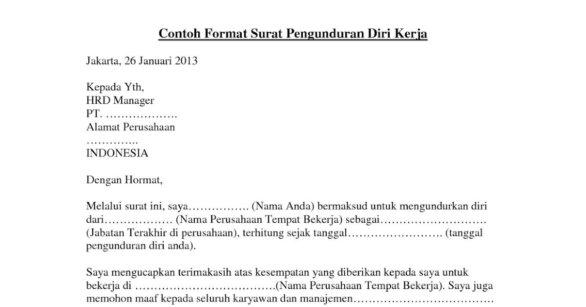 contoh surat pengunduran diri dari club motor how to aa