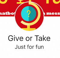 Facebook chatbot Give or take