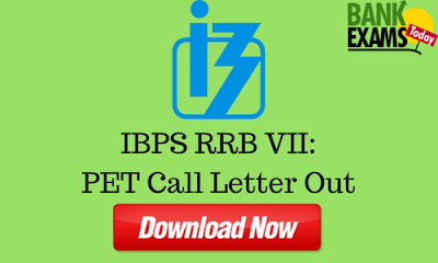 IBPS RRB VII: Pre-Examination Training Call Letter Out