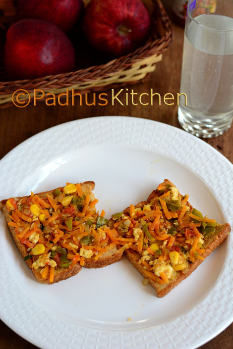 Vegetable Paneer Masala Toast Sandwich