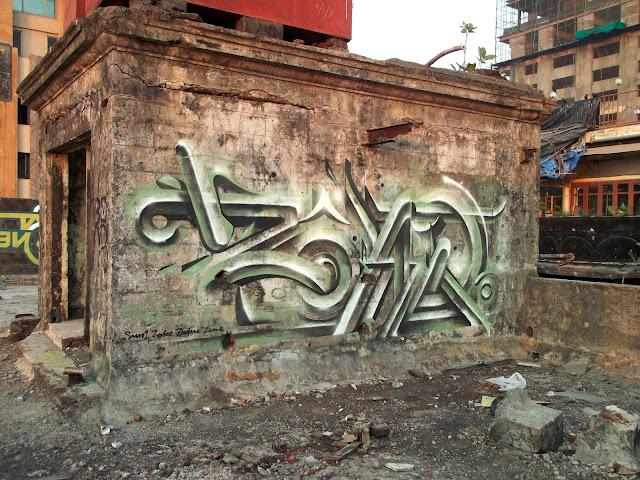 Green metallic tag by Bond