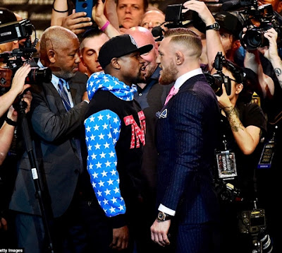 McGregor Tears Mayweather as Rivals Square Up for Epic Fight