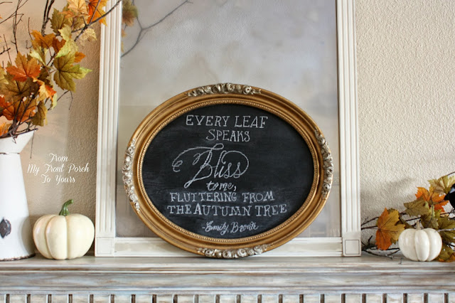 Fall Chalk Board