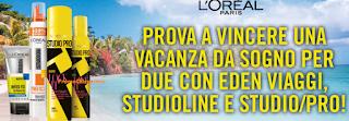 Logo Studio Line e Studio Pro: con L'Oreal vinci viaggi da sogno