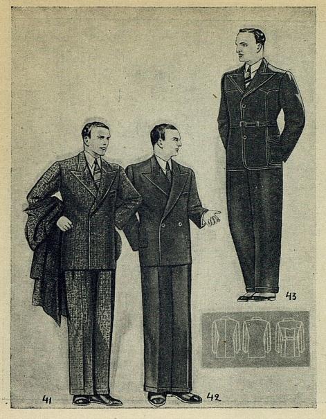 Модные костюмы 1937 года