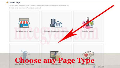 choose any page type for create page (screenshoot)