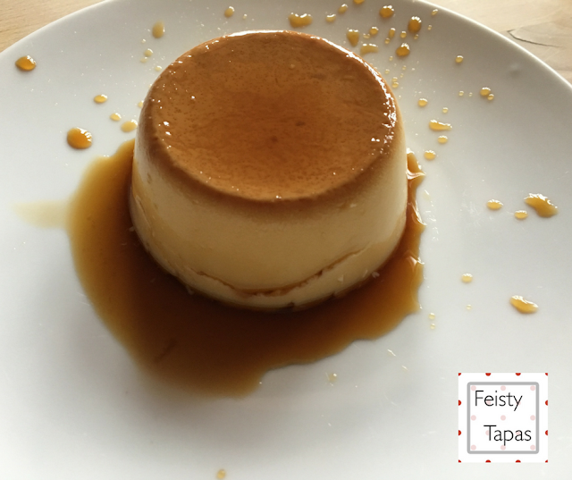 Instant Pot Pressure Cooker Flan de huevo (Creme Caramel) by Feisty Tapas. Turned onto a plate