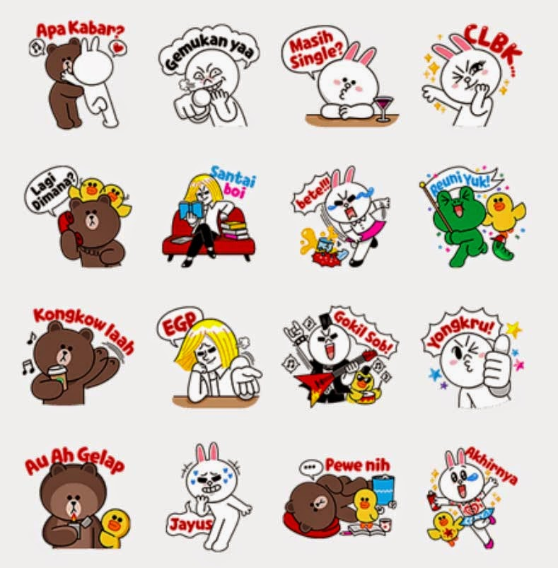 Emoji, Sticker Emoticon. Line Chat.