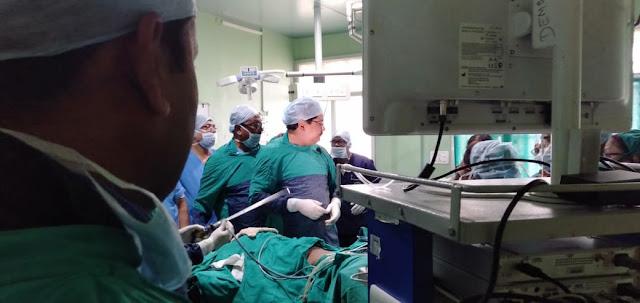 Dr. Manoranjan Mahapatra demonstrated Laparoscopy Surgery Jharkhand