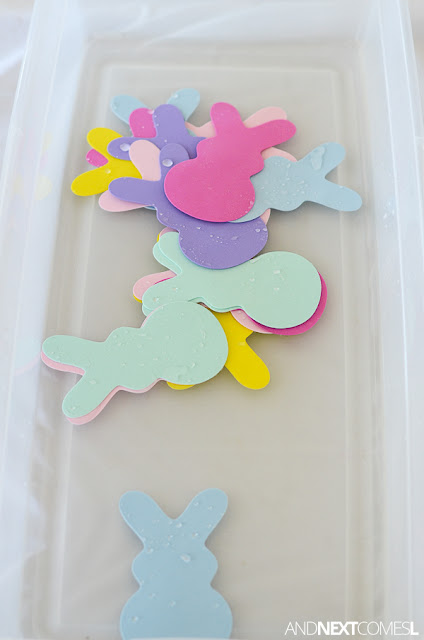 Easter sensory bin idea and water play activity