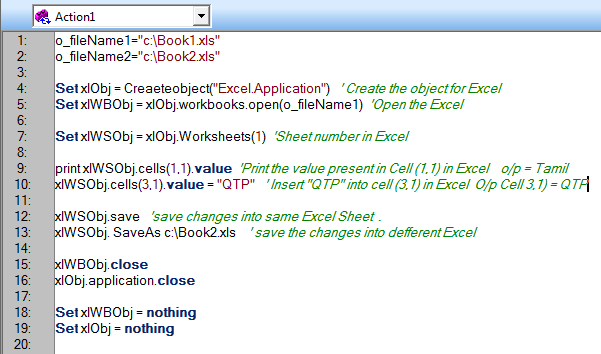 My Careers: Working with Excel Sheet using QTP