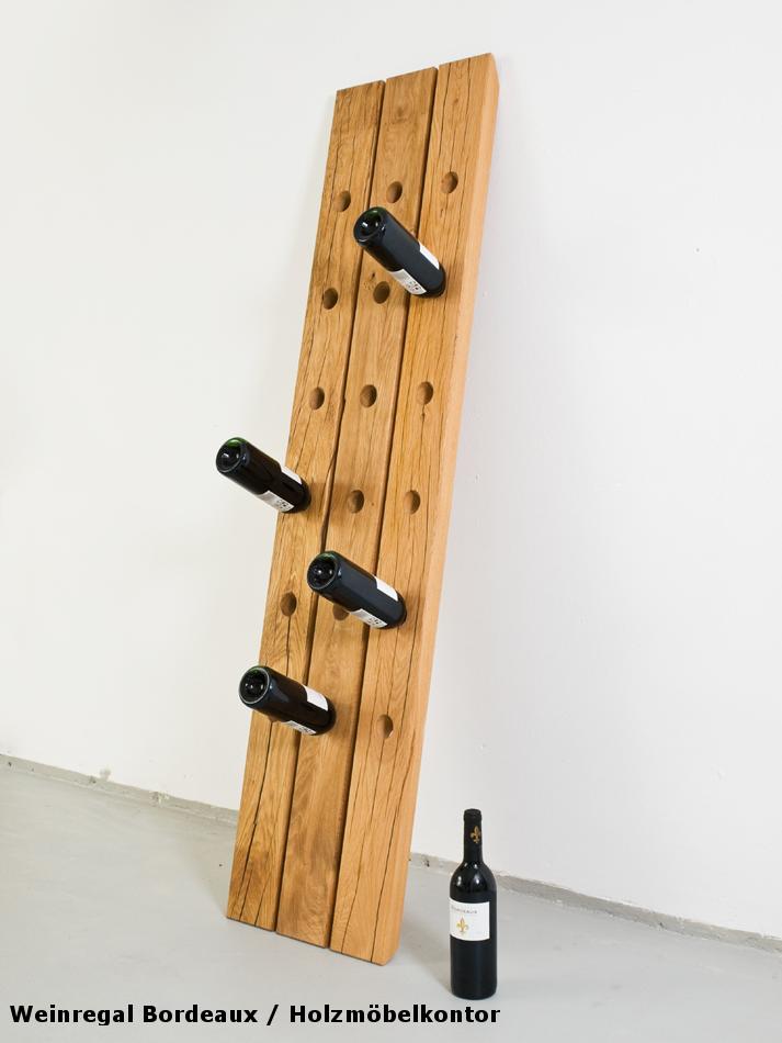wohnkantine wohnideen vom holzm belkontor weinregale aus holz. Black Bedroom Furniture Sets. Home Design Ideas