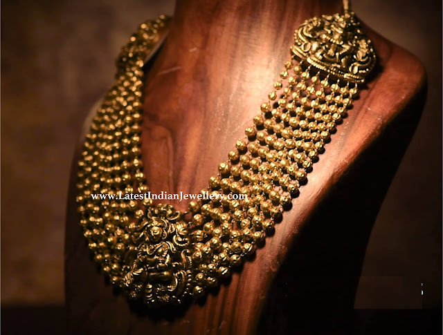 Gold Balls Krishna Necklace