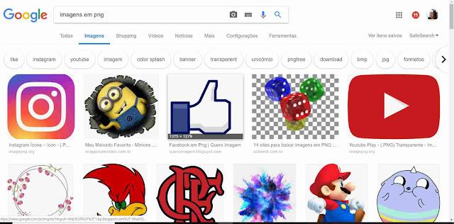 Whatsapp: Imagens do Google em png.