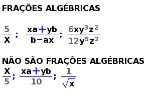 Resultado de imagem para FRAÇÕES ALGÉBRICAS