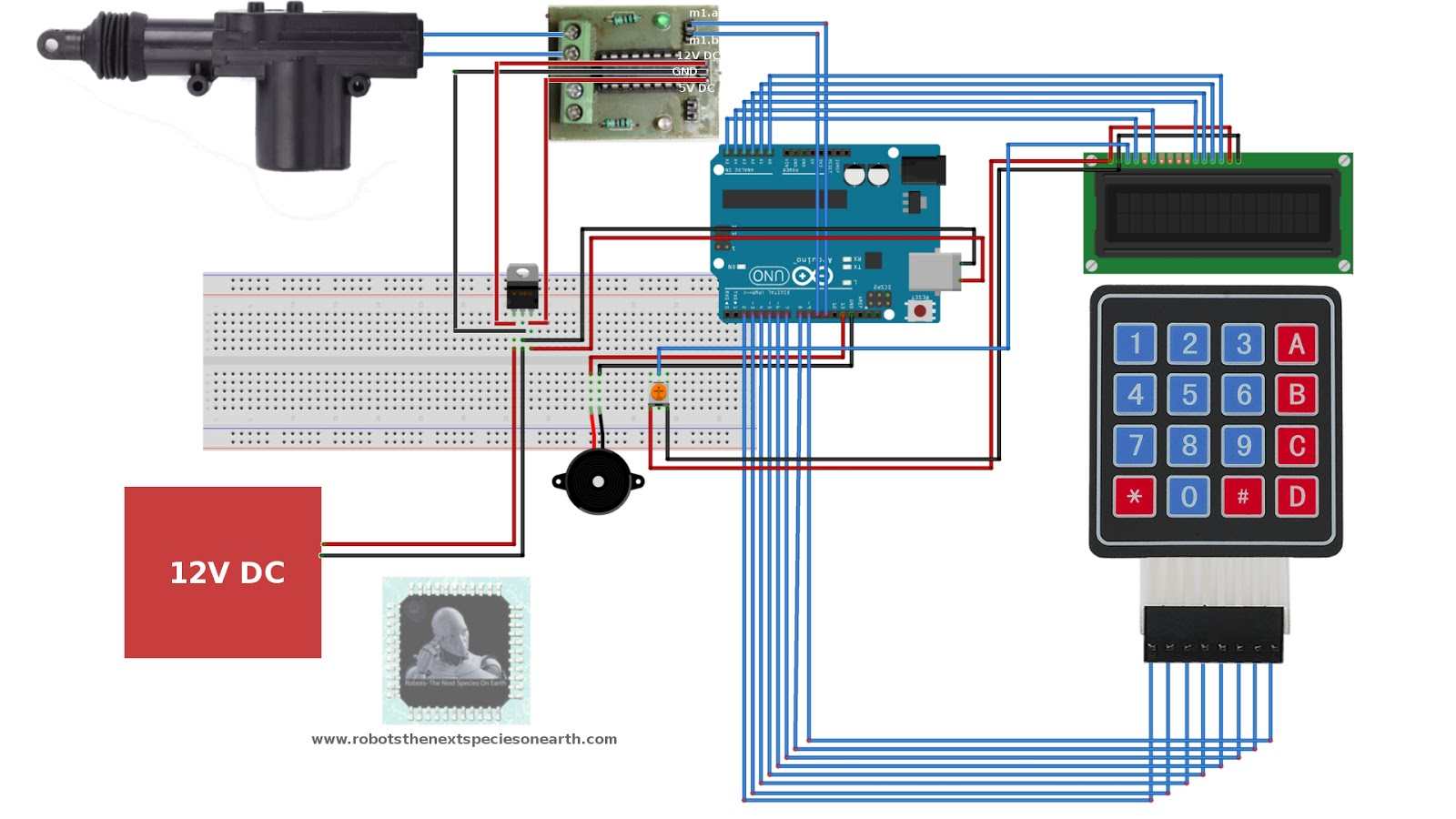 How To Make Digital Door Lock Using Arduino Robots The Next Electronic Locks Circuits And Tutorials This Circuit Can Be Used Figure 3