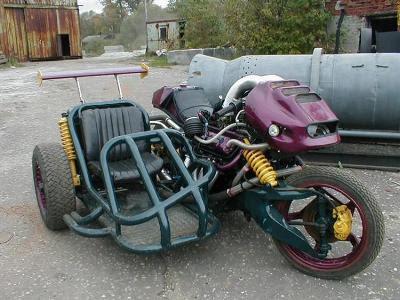 motocicleta creativa