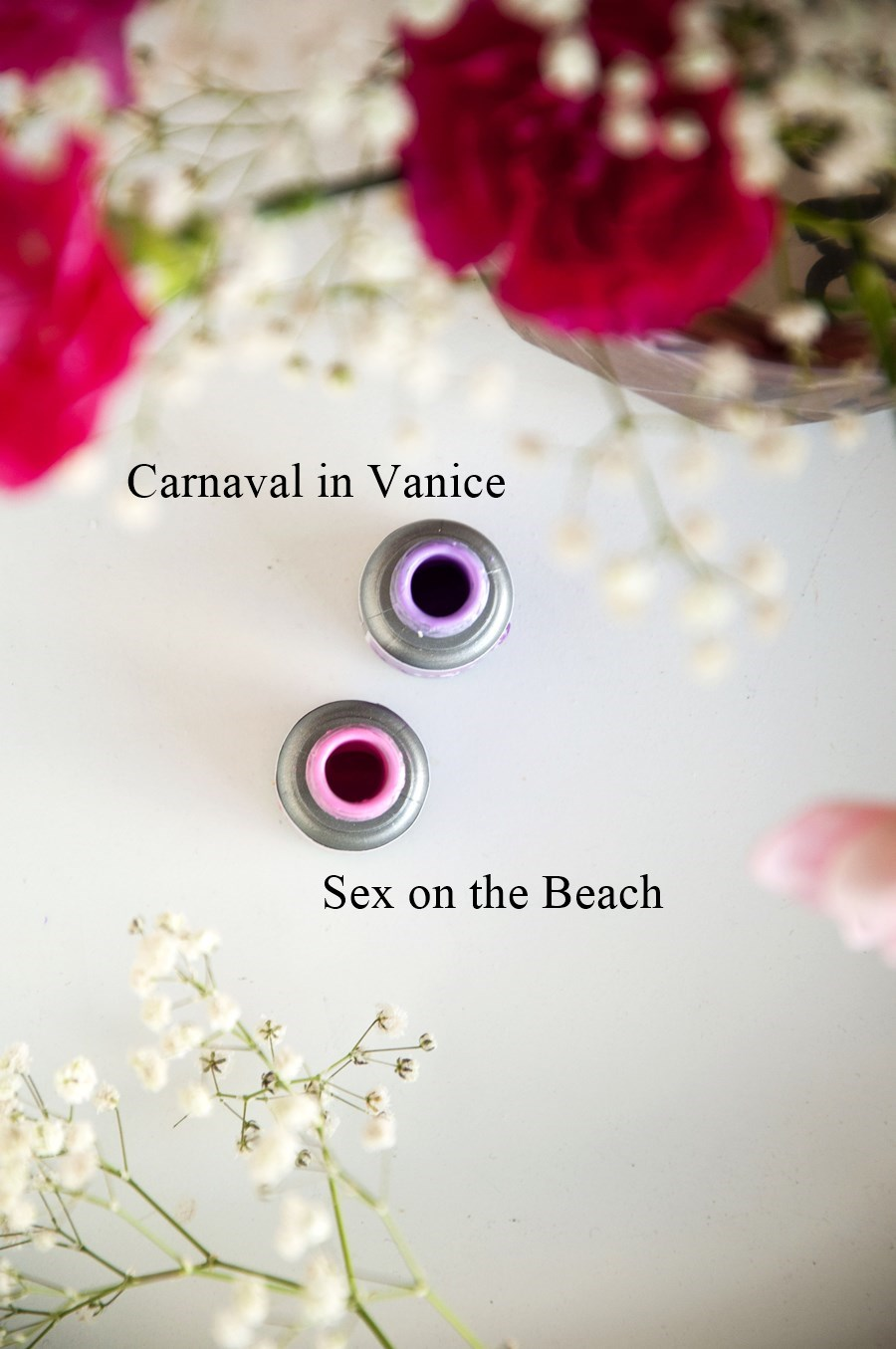 lakiery hybrydowe, pastelowe allepaznokcie, sex on the beach, carnaval in vanice,
