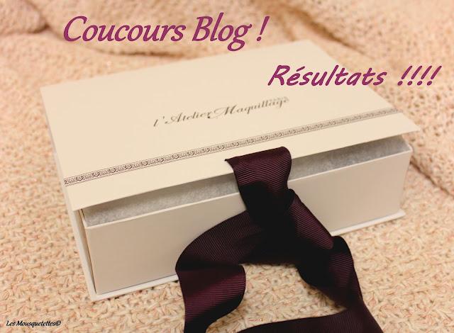 Résultats du concours L'Atelier Maquillage Paris - Blog beauté Les Mousquetettes ©
