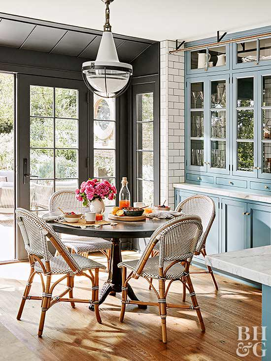 Parisian bistro chairs are perfect for breakfast area