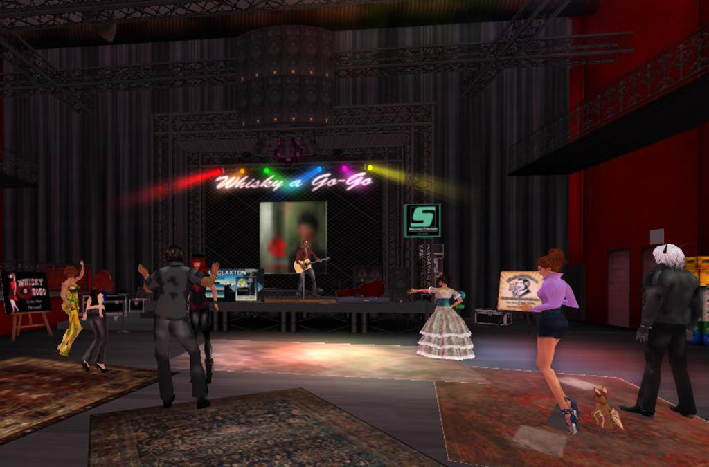 Zak Claxton: Whisky A Go Go in Second Life (11 27 12)