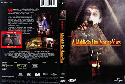 Filme A Maldição Dos Mortos Vivos (The Serpent and the Rainbow) DVD Capa