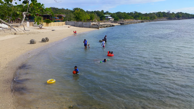 swimming at Pacman Beach Resort Complex