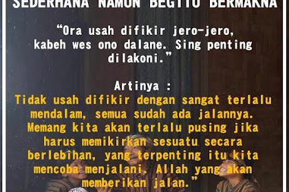 Kata Mutiara Semangat Hidup Bahasa Jawa