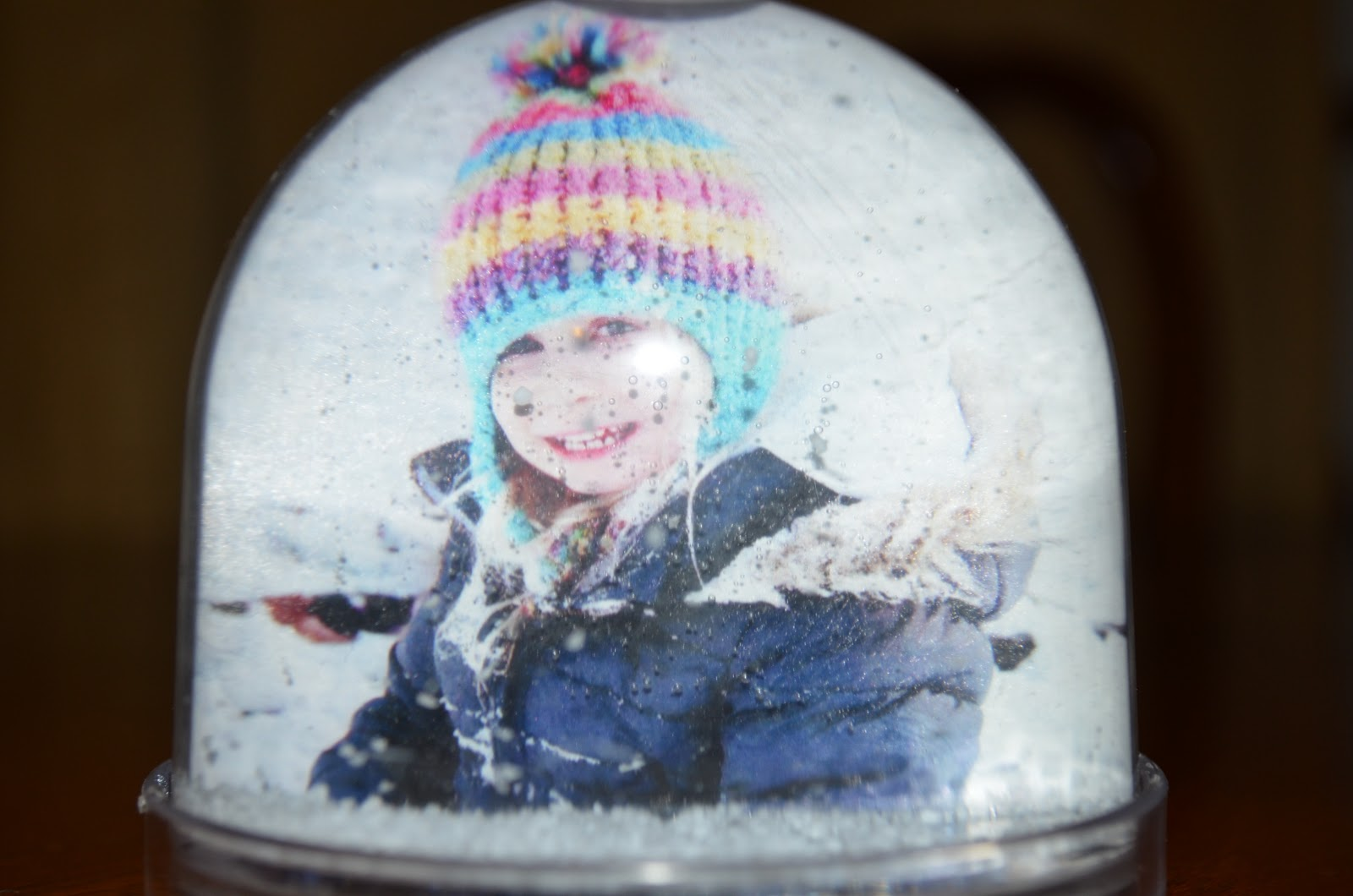 Just You And Me Baby Stuck Inside A Snow Globe