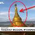 Pagoda Buddha Tertelan Sungai di Myanmar