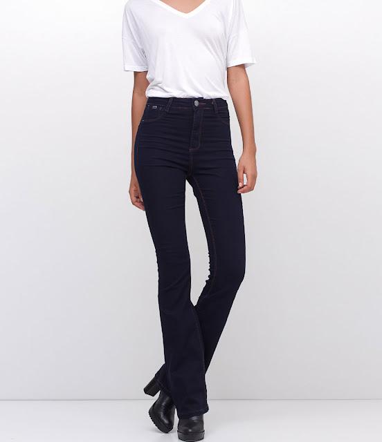 calça jeans feminina modelo boot cut