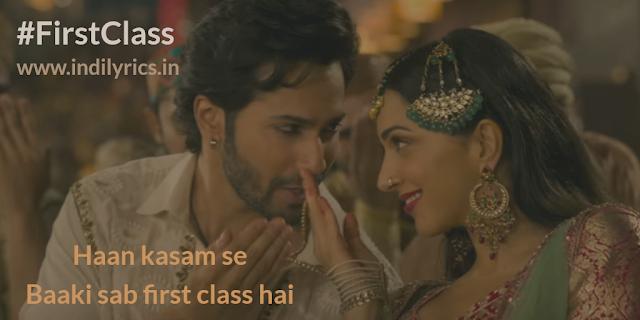 First Class Hai | Varun & Kiara | Kalank | Pics | Quotes | Photos | Images | Lyrics