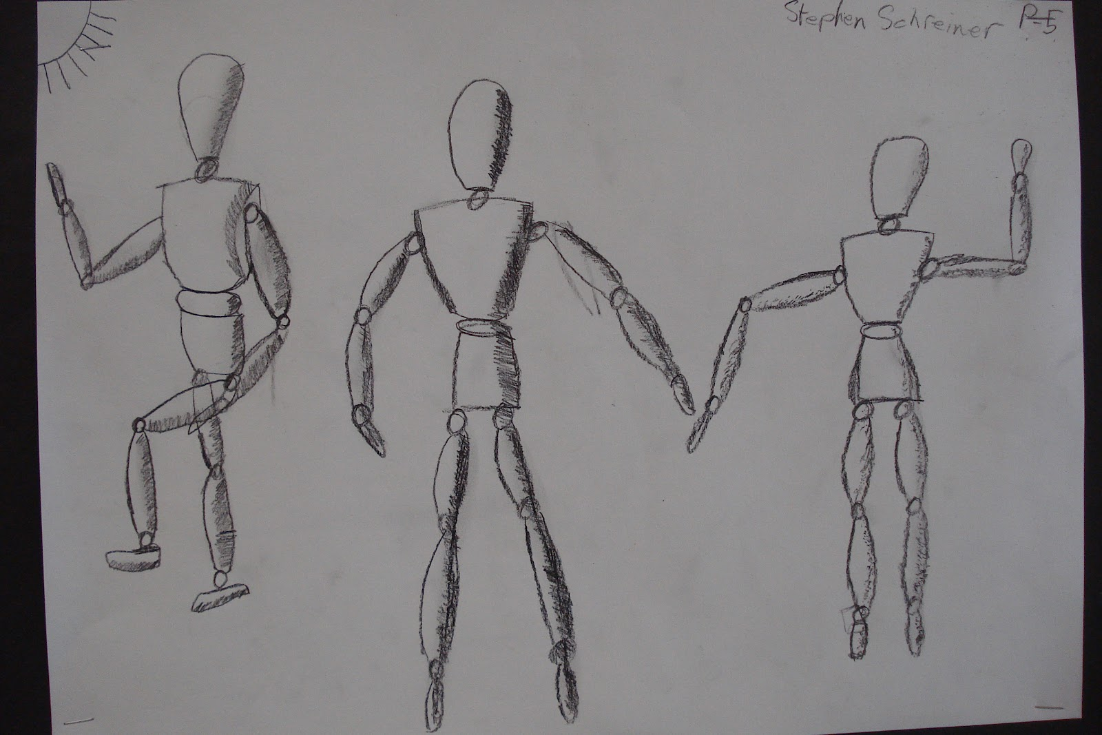 the creARTtivity spot: 5th Grade Figure Drawings