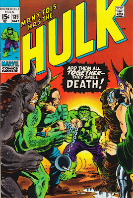 Incredible Hulk #139, many foes has the Hulk