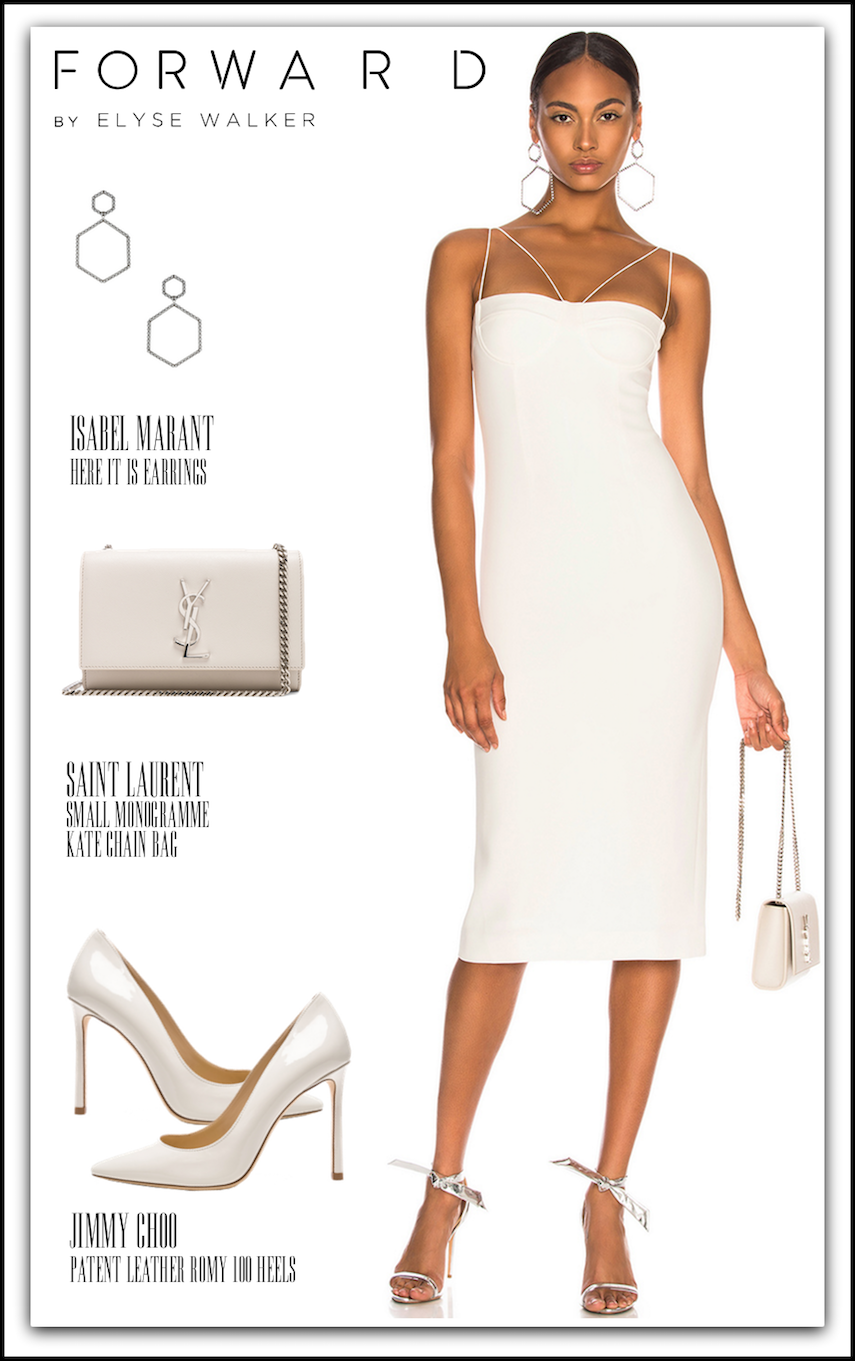 DION LEE Sheer Solid Dress shown in Ivory