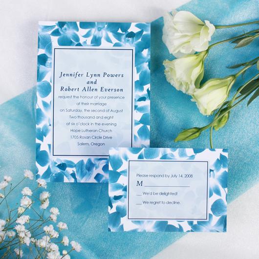 Cheap Blue Wedding Invitations