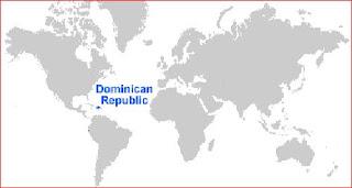 Gambar Peta letak Republik Dominika