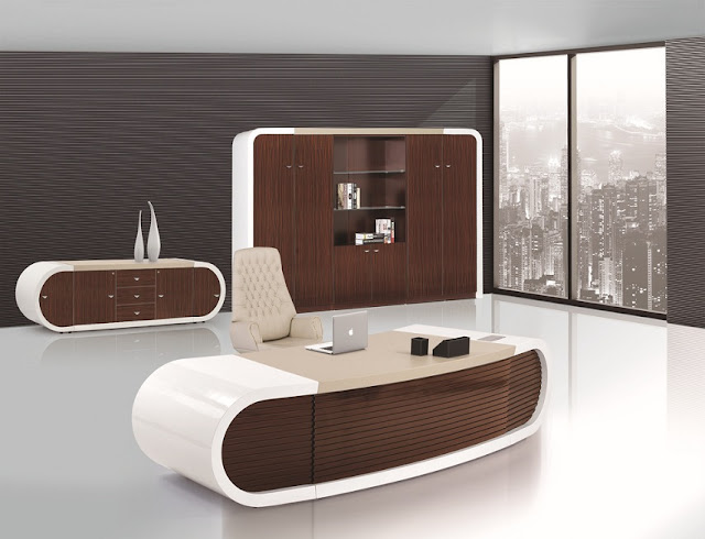 best buy white brown modern compact office furniture sets for sale