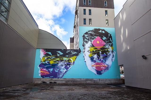 New Street Art Portraits by Australian Artist Askew in New Zealand For Rise Urban Art Festival. 5