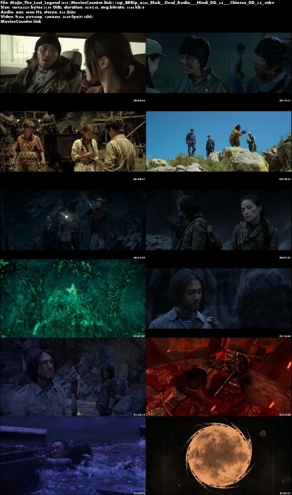 Screen Shots Mojin - The Lost Legend 2015 Dual Audio HD 720p