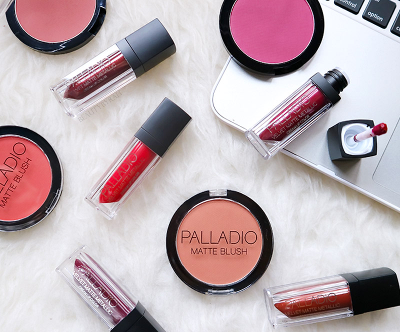 Palladio Velvet Matte Metallic Cream Lip Colour and Matte Blushes Review and Swatches