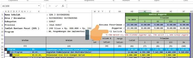 Aplikasi RKAS Manual Format Excel