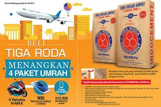 Undian Semen Tiga Roda Berhadiah 4 Paket Umroh, 6 Yamah N-Max, 900 Smartphone & Pulsa