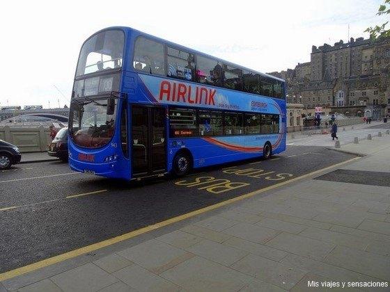 Autobús 100 de Airlink, Lothian Buses, Edimburgo