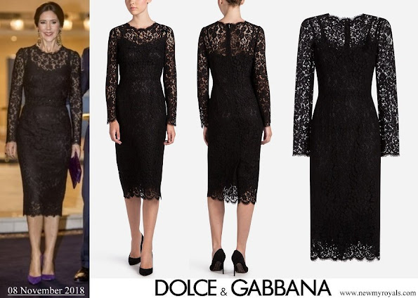 Crown Princess Mary wore Dolce and Gabbana Lace Dress