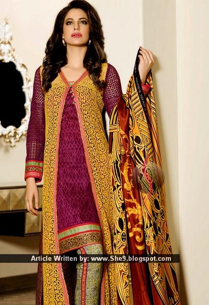 436b7d27e570 Latest Pakistani Dresses fashion - New Designs of Suits - She9 ...